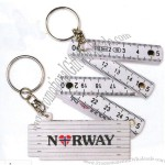 Foldable Ruler Keychain