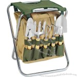Folding Chair With Gardening Tools