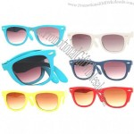 Folding Colored Wayfarers Sunglasses