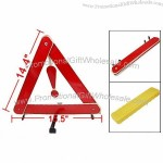 Folding Emergency Car Warning Safety Triangle Traffic Sign Red
