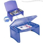 Folding Lap Desk with Tray, Storage Collapsible Lap Tray
