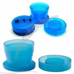 Folding Travel Cup with Pill Compartment