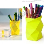 Folds Colorful Trash Can Pen Holder