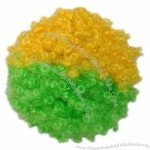 Football Fans Wig with Flag Color Specialized for 2014 Brazilian World Cup