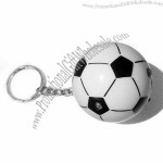 Football-shaped Key Finder Keychain with Whistle and LED