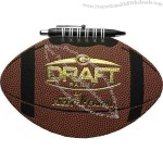 Football Sportspad - Sports pad comes with 60 sheets of blank filler and black paperboard back cover