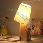 Forest Pet Wooden Table Lamp