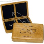 Forever Personalized Wood His & Hers Wedding Ring Box