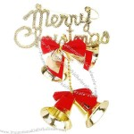 Four Gold Bell Christmas Tree Ornament
