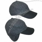 Frank Herringbone Tweed Baseball Cap with Earflaps