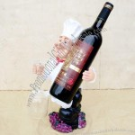 French Chef Wine Bottle and Goblet Holder