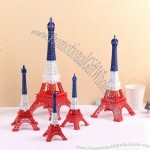 French Flag Eiffel Tower Model