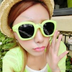 Frosted candy-colored Sunglasses