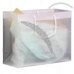 "Frosted Clear Plastic Euro Tote Shopping Bag - 4 Mil 16""x6""x12"""