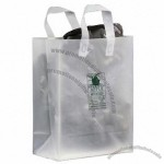 "Frosted Clear Plastic Flexi-Loop Shopping Bag - 4 Mil - 10""x5""x13"""