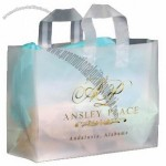 "Frosted Clear Plastic Flexi-Loop Shopping Bag - 4 Mil 16""x6""x12"""