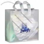 "Frosted Clear Plastic Flexi-Loop Shopping Bag - 4 Mil 16""x6""x16"""