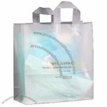 "Frosted Clear Plastic Flexi-Loop Shopping Bag - 4 Mil 17""x7""x18"""