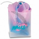 "Frosted Clear Plastic Flexi-Loop Shopping Bag - 4 Mil 8""x4.75""x10"""