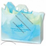 "Frosted Clear Plastic Shopping Bag w/ Flexi Loop Handle 16""x6""x12"""
