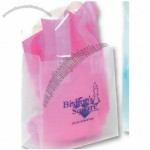 "Frosted Clear Plastic Shopping Bag w/ Flexi Loop Handle 8""x4""x10"""