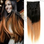 Full Head 6A Unprocessed Brazilian Remy Hair Clip in Human Hair Extensions
