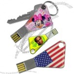 Fullcolors Printed Key Shaped USB Flash Drives