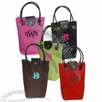 Fun Color Monogrammed Wine Bags - Design Your Own