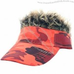 Fun Hair Hat Orange - Brown Hair - Adult Size