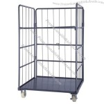 Galvanized Logistics Wire Mesh Roll Container for Storage
