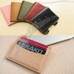 Genuine Leather Credit Card Holder Id Card Case Holder