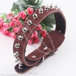 Genuine Leather Dog Collars with Barbed Nail