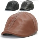 Genuine Leather Flat Cap Cabbie Gatsby Ivy Irish Hat Newsboy