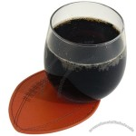 Genuine Leather Football Coaster