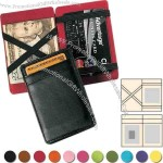 Genuine leather magic wallet/business card case with four outside slots