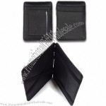 Genuine Leather Magic Wallet with ID Holder, Credit Card Slots and Rubber Band