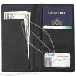 Genuine leather passport cover and wallet