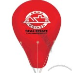 Giant floating helium hot air balloon shape inflatable with 150' nylon tether.