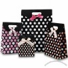 Gift Bags with Offset Printing and Silk Ribbon Handle