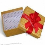 Gift Box for Stationery and Office Supply, with Ribbon or Magnet Seal