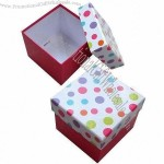 Gift Box, Full-color Printed Art Paper, Laminated with Thick Grey Board