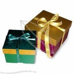 Gift Boxes with Attached Ribbon