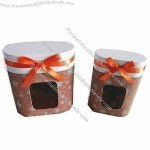 Gift Boxes, With Transparent PVC Window And Ribbon Bow On Front