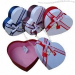 Gift Packing Box in Heart Shape, Made of Art Paper and Cardboard