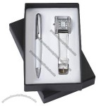 Gift Set With Watch Ball Pen