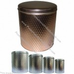 Gift Tin Box With Full Embossed