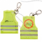 Gilet Shape Reflective Tog With Carabiner