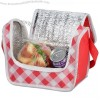 Gingham Printed Poly Pro Lunch Cooler Bag