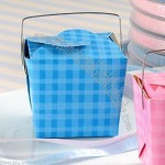 Gingham Take Out Boxes