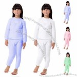 Girl's 100% Cotton Thermal Underwear